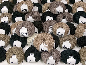 Chenille Types This mixed lot includes a total of 2000 gr (70.5 oz.) yarn. There is no standard for ball weight. Also disregard any information on the labels. You will get what you see in the photo. Brand ICE, fnt2-59945