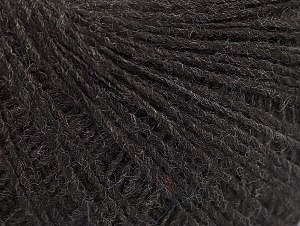 Fiber Content 50% Wool, 50% Acrylic, Brand ICE, Dark Brown, Yarn Thickness 2 Fine  Sport, Baby, fnt2-60005
