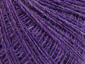 Fiber Content 50% Wool, 50% Acrylic, Lilac, Brand ICE, Yarn Thickness 2 Fine  Sport, Baby, fnt2-60035