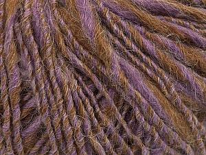 Fiber Content 40% Acrylic, 35% Wool, 25% Alpaca, Lilac, Light Brown, Brand ICE, Yarn Thickness 3 Light  DK, Light, Worsted, fnt2-60079