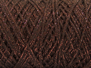 Fiber Content 90% Cotton, 10% Metallic Lurex, Brand ICE, Copper, Brown, fnt2-60135
