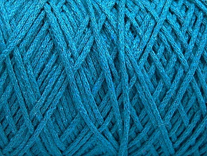 Fiber Content 100% Cotton, Turquoise, Brand ICE, Yarn Thickness 4 Medium  Worsted, Afghan, Aran, fnt2-60154
