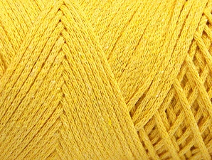 Fiber Content 100% Cotton, Yellow, Brand ICE, Yarn Thickness 4 Medium  Worsted, Afghan, Aran, fnt2-60166