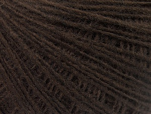 Fiber Content 50% Wool, 50% Acrylic, Brand ICE, Dark Brown, Yarn Thickness 2 Fine  Sport, Baby, fnt2-60197