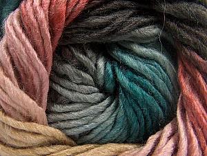 Fiber Content 50% Wool, 50% Acrylic, Turquoise, Pink Shades, Brand ICE, Grey, Camel, Brown, Yarn Thickness 5 Bulky  Chunky, Craft, Rug, fnt2-60246