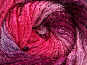 Fiber Content 50% Wool, 50% Acrylic, Pink Shades, Lilac, Brand ICE, Yarn Thickness 5 Bulky  Chunky, Craft, Rug, fnt2-60247