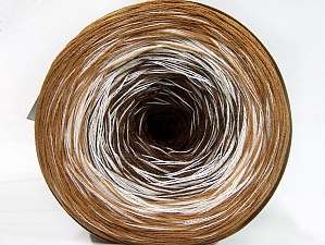 Fiber Content 50% Acrylic, 50% Cotton, White, Light Brown, Brand ICE, Brown, Yarn Thickness 2 Fine  Sport, Baby, fnt2-60270