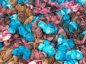 Magic Light, Magic Glitz Leftover This lot consists of about 100 hanks of Magic Light leftover yarn. The total weight is 2000 gr (70.5 oz.). Brand ICE, fnt2-60301