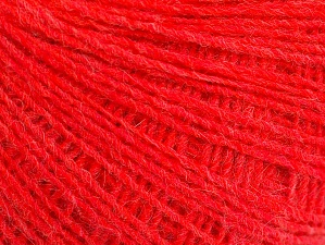 Fiber Content 50% Wool, 50% Acrylic, Neon Red, Brand ICE, Yarn Thickness 2 Fine  Sport, Baby, fnt2-60345