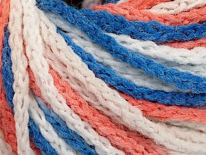 Fiber Content 50% Polyamide, 50% Acrylic, White, Salmon, Brand ICE, Blue, Yarn Thickness 4 Medium  Worsted, Afghan, Aran, fnt2-60359