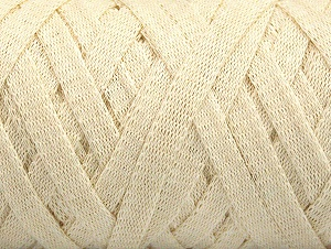 Fiber Content 100% Recycled Cotton, Brand ICE, Cream, Yarn Thickness 6 SuperBulky  Bulky, Roving, fnt2-60396