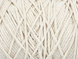 Fiber Content 100% Cotton, Off White, Brand ICE, Yarn Thickness 5 Bulky  Chunky, Craft, Rug, fnt2-60411