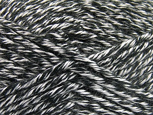 Fiber Content 100% Acrylic, White, Brand ICE, Black, Yarn Thickness 6 SuperBulky  Bulky, Roving, fnt2-60447