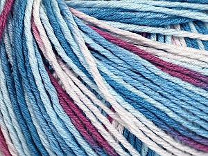Fiber Content 100% Acrylic, White, Orchid, Brand ICE, Blue Shades, Yarn Thickness 2 Fine  Sport, Baby, fnt2-60460