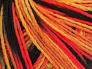 Fiber Content 100% Acrylic, Salmon Shades, Brand ICE, Gold, Black, Yarn Thickness 2 Fine  Sport, Baby, fnt2-60465