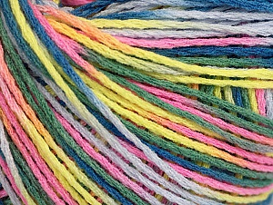 Fiber Content 100% Acrylic, Pink, Neon Yellow, Lilac, Khaki, Brand ICE, Blue, Yarn Thickness 2 Fine  Sport, Baby, fnt2-60469