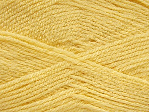 Fiber Content 100% Acrylic, Light Yellow, Brand ICE, Yarn Thickness 3 Light  DK, Light, Worsted, fnt2-60845