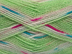 Fiber Content 100% Baby Acrylic, White, Turquoise, Pink, Brand ICE, Green Shades, Yarn Thickness 2 Fine  Sport, Baby, fnt2-60874