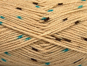 Fiber Content 100% Acrylic, Turquoise, Brand ICE, Camel, Brown, Yarn Thickness 2 Fine  Sport, Baby, fnt2-60914