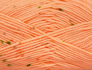 Fiber Content 100% Acrylic, Light Salmon, Brand ICE, Green Shades, fnt2-60916