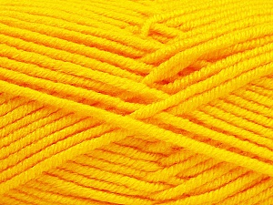 Fiber Content 100% Acrylic, Yellow, Brand ICE, Yarn Thickness 5 Bulky  Chunky, Craft, Rug, fnt2-60924