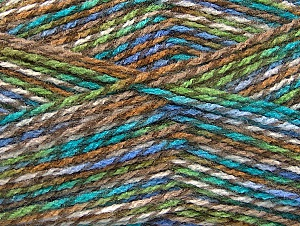 Fiber Content 100% Premium Acrylic, White, Turquoise, Lilac, Brand ICE, Brown Shades, Yarn Thickness 2 Fine  Sport, Baby, fnt2-60945
