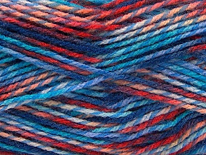 Fiber Content 100% Premium Acrylic, Salmon, Red, Brand ICE, Blue Shades, Yarn Thickness 2 Fine  Sport, Baby, fnt2-60948