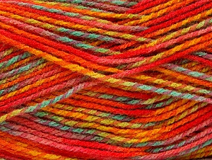 Fiber Content 100% Premium Acrylic, Red, Orange Shades, Mint Green, Brand ICE, Gold, Yarn Thickness 2 Fine  Sport, Baby, fnt2-60950
