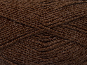 Fiber Content 100% Acrylic, Brand ICE, Coffee Brown, fnt2-60970