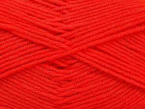 Fiber Content 100% Acrylic, Neon Orange, Brand ICE, Yarn Thickness 4 Medium  Worsted, Afghan, Aran, fnt2-60973