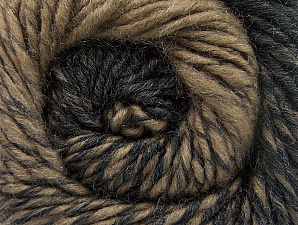 Fiber Content 75% Premium Acrylic, 25% Wool, Brand ICE, Camel, Black, Yarn Thickness 4 Medium  Worsted, Afghan, Aran, fnt2-61015