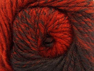 Fiber Content 75% Premium Acrylic, 25% Wool, Brand ICE, Copper, Black, Yarn Thickness 4 Medium  Worsted, Afghan, Aran, fnt2-61020
