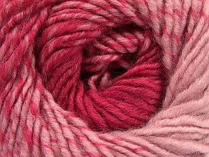 Fiber Content 75% Premium Acrylic, 25% Wool, Pink Shades, Brand ICE, Yarn Thickness 4 Medium  Worsted, Afghan, Aran, fnt2-61031