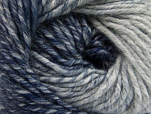 Fiber Content 75% Premium Acrylic, 25% Wool, Navy, Brand ICE, Grey, Yarn Thickness 4 Medium  Worsted, Afghan, Aran, fnt2-61032