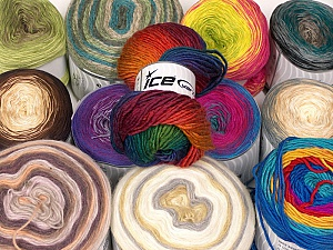 Cakes Yarns This mixed lot includes a total of 2000 gr (70.5 oz.) yarn. There is no standard for ball weight. You will get what you see in the photo. Brand ICE, fnt2-61040