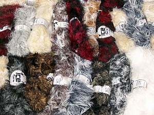 Smooth Fur This mixed lot includes a total of 2000 gr (70.5 oz.) yarn. There is no standard for ball weight. Also disregard any information on the labels. You will get what you see in the photo. Fiber Content 100% Polyamide, Brand ICE, fnt2-61057