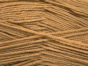Fiber Content 100% Acrylic, Light Camel, Brand ICE, Yarn Thickness 3 Light  DK, Light, Worsted, fnt2-61082