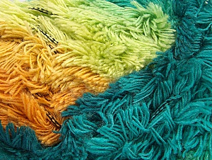 Fiber Content 95% Acrylic, 5% Polyester, Turquoise Shades, Orange, Light Green, Brand ICE, Gold, Camel, Yarn Thickness 6 SuperBulky  Bulky, Roving, fnt2-61126