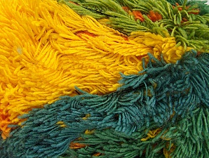 Fiber Content 95% Acrylic, 5% Polyester, Yellow, Pink, Lilac, Brand ICE, Green Shades, Blue, Yarn Thickness 6 SuperBulky  Bulky, Roving, fnt2-61128