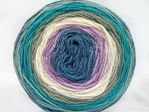 Fiber Content 70% Premium Acrylic, 30% Wool, Turquoise, Lilac, Khaki, Brand ICE, Cream, Blue Shades, Yarn Thickness 3 Light  DK, Light, Worsted, fnt2-61219