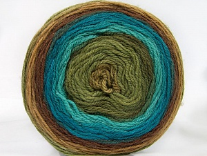Fiber Content 70% Premium Acrylic, 30% Wool, Turquoise, Brand ICE, Green Shades, Brown Shades, Yarn Thickness 3 Light  DK, Light, Worsted, fnt2-61222