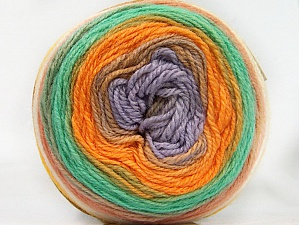 Fiber Content 70% Premium Acrylic, 30% Wool, Yellow, White, Orange, Mint Green, Lilac, Brand ICE, Yarn Thickness 3 Light  DK, Light, Worsted, fnt2-61231