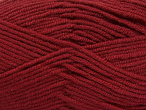 Fiber Content 100% Acrylic, Brand ICE, Burgundy, Yarn Thickness 4 Medium  Worsted, Afghan, Aran, fnt2-61284