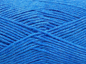 Fiber Content 60% Bamboo, 40% Polyamide, Brand ICE, Blue, Yarn Thickness 2 Fine  Sport, Baby, fnt2-61335