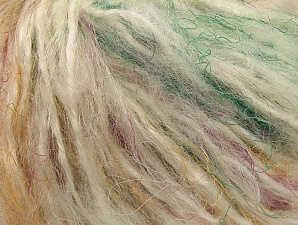 Fiber Content 40% Polyamide, 30% Wool, 30% Acrylic, Mint Green, Brand ICE, Cream, Brown, fnt2-61766