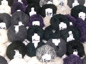 Eyelash Blends This mixed lot includes a total of 2000 gr (70.5 oz.) yarn. There is no standard for ball weight. Also disregard any information on the labels. You will get what you see in the photo. Brand ICE, fnt2-62011