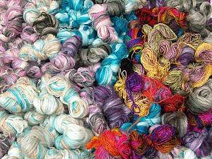Primadonna Leftover This lot consists of more than 100 hanks of Primadonna yarn. The total weight is 2000 gr (70.5 oz.). Fiber Content 50% Acrylic, 50% Wool, Brand ICE, fnt2-62172