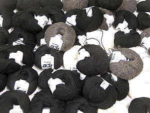 Winter Yarns This mixed lot includes a total of 2000 gr (70.5 oz.) yarn. There is no standard for ball weight. Also disregard any information on the labels. You will get what you see in the photo. Brand ICE, fnt2-62322
