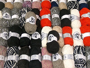 Winter Yarns This mixed lot includes a total of 2000 gr (70.5 oz.) yarn. There is no standard for ball weight. Also disregard any information on the labels. You will get what you see in the photo. Brand ICE, fnt2-62333
