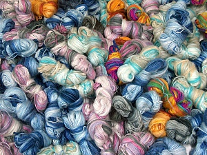 Angora Active Leftover This lot consists of more than 100 hanks of Angora Active yarn. The total weight is 2000 gr (70.5 oz.). Fiber Content 75% Acrylic, 25% Angora, Brand ICE, fnt2-62436